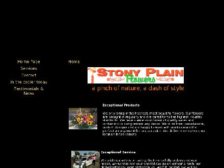 Stony Plain Flowers (780-963-5020) - Website thumbnail - http://www.stonyplainflowers.ca