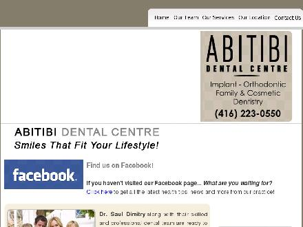 Abitibi Dental Centre (647-931-9727) - Onglet de site Web - http://www.abitibidental.ca