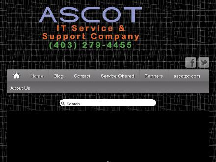Ascot Business Systems (403-767-0992) - Onglet de site Web - http://www.itservices.ascotpc.com