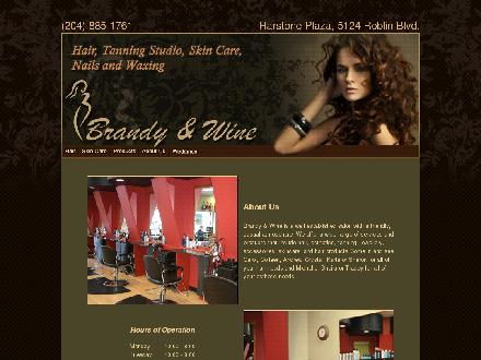 Brandy & Wine Hair Esthetics (204-885-1761) - Onglet de site Web - http://brandyandwine.com/