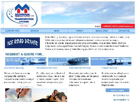 MATCO Transportation Systems (403-727-0215) - Website thumbnail - http://www.matco.ca