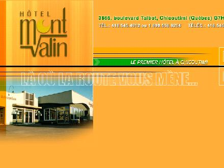H&ocirc;tel Mont-Valin (418-545-4912) - Onglet de site Web - http://www.hotelmontvalin.com