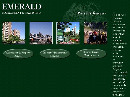 Emerald Management & Realty Ltd (403-727-0125) - Onglet de site Web - http://www.emeraldmanagement.com