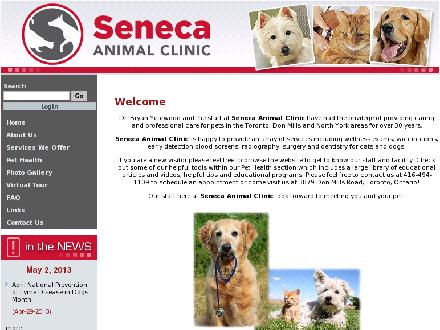 Seneca Animal Clinic The (416-494-1109) - Onglet de site Web - http://www.senecaanimalclinic.ca