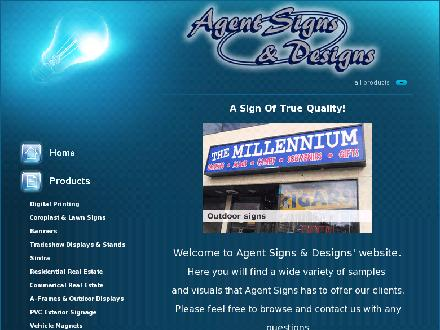 Agent Signs &amp; Designs (613-728-9964) - Website thumbnail - http://www.agentsigns.ca/