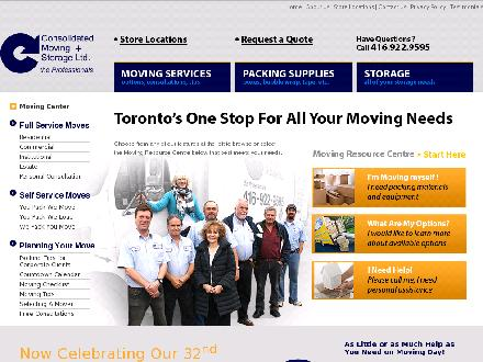 Consolidated Moving &amp; Storage Ltd (416-922-9595) - Onglet de site Web - http://www.consolidatedmoving.com