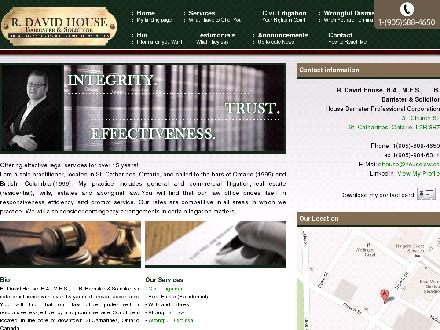 House Barrister Professional Corp (905-688-4650) - Onglet de site Web - http://www.houselaw.ca