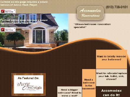 Accomodex (613-738-0101) - Onglet de site Web - http://www.accomodexrenovations.com