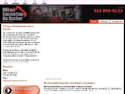 Mini-Excavation Durocher Inc (450-434-1627) - Onglet de site Web - http://miniexcavationdurocher.com