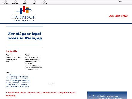Harrison Law Office (204-800-0886) - Website thumbnail - http://harrisonlaw.ca/