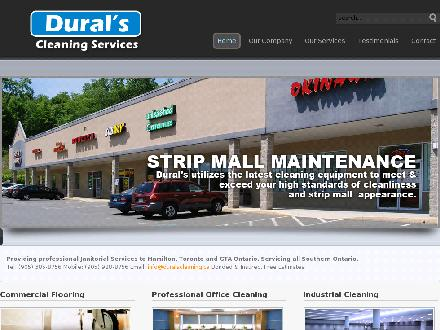 Dural's Cleaning Services (905-385-8756) - Website thumbnail - http://www.duralscleaning.ca