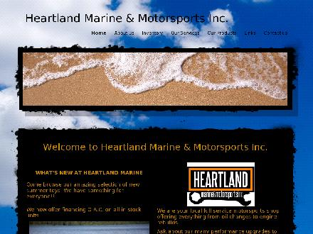 Heartland Marine &amp; Motorsports Inc (403-742-4447) - Onglet de site Web - http://www.heartlandmarine.ca