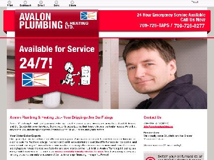 Avalon Plumbing &amp; Heating Ltd (709-701-3027) - Onglet de site Web - http://avalonplumbing.ca