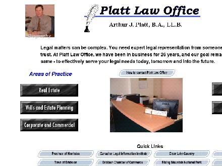 Platt Law Office (204-636-7838) - Onglet de site Web - http://www.plattlegal.ca