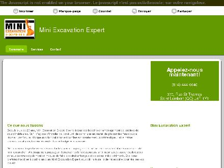 Mini Excavation Expert (514-444-6640) - Onglet de site Web - http://miniexcavationexpert.com/