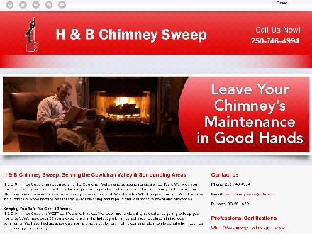 H & B Chimney Sweep (250-746-4994) - Website thumbnail - http://hbchimneysweep.ca/