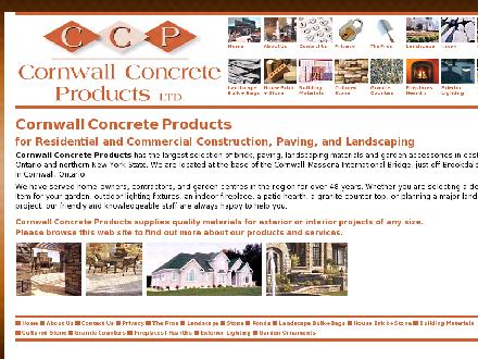 Cornwall Concrete Products Ltd (613-933-2290) - Onglet de site Web - http://www.cornwallconcreteproducts.com