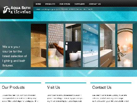 Aqua Bath & Lighting (780-613-0124) - Onglet de site Web - http://www.aquabathlighting.com