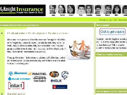 McKnight Insurance (506-452-1011) - Website thumbnail - http://www.mcknightinsurance.ca