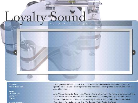 Loyalty Sound Ltd (403-244-8838) - Onglet de site Web - http://www.loyaltysound.com