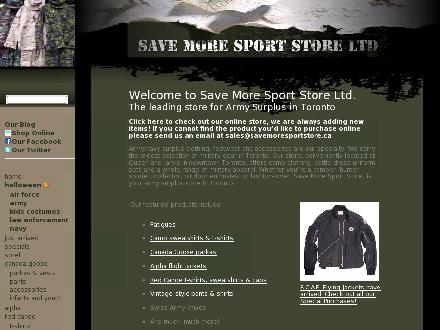Save-More Sport Store (416-368-3536) - Onglet de site Web - http://www.savemoresportstore.ca