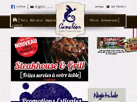 Pub Cam&eacute;l&eacute;on (819-758-8222) - Onglet de site Web - http://www.pubcameleon.com