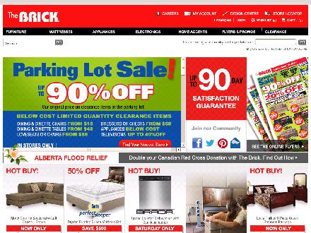 The Brick Midland (705-528-1600) - Website thumbnail - http://www1.thebrick.com