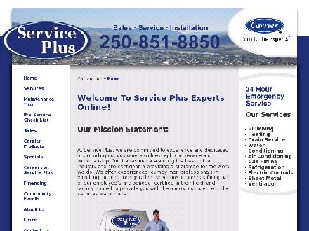 Service Plus (250-851-8850) - Website thumbnail - http://www.serviceplusexperts.com