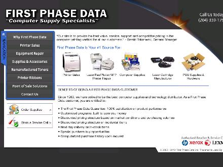First Phase Data (204-339-1796) - Website thumbnail - http://www.firstphasedata.com