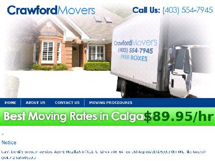 Crawford Movers (403-554-7945) - Website thumbnail - http://www.crawfordmovers.ca