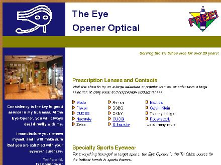 Eye Opener Optical The (604-464-1344) - Website thumbnail - http://www.eyeopeneroptical.ca
