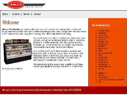 Abcco Products (604-420-8878) - Onglet de site Web - http://www.abccoproducts.com