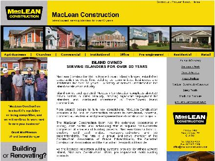 MacLean Construction Ltd (902-569-4000) - Onglet de site Web - http://www.macleanconstruction.com