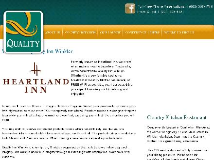 Heartland Inn (204-325-4381) - Website thumbnail - http://www.heartlandinn.ca