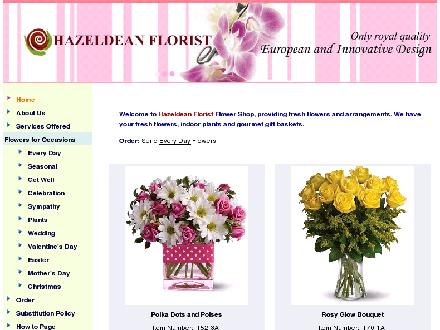Hazeldean Florist (613-831-8529) - Onglet de site Web - http://www.hazeldeanflorist.com