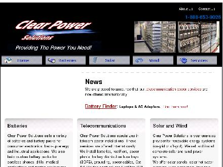 Clear Power Solutions Inc (506-653-9021) - Onglet de site Web - http://www.clearpowersolutions.com