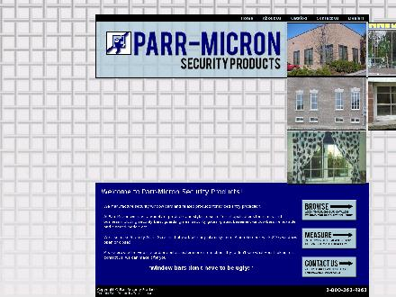 Parr Security Products (1-888-228-9159) - Onglet de site Web - http://www.micronsecurityproducts.com