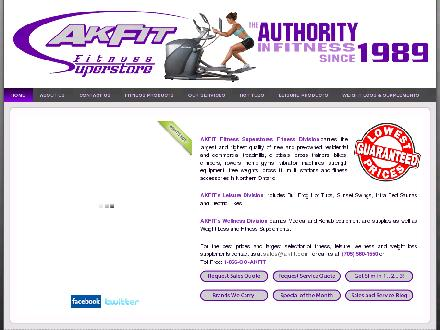 Akfit Fitness Superstore (705-560-1550) - Website thumbnail - http://www.akfit.com