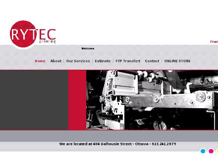 Rytec (613-241-2679) - Onglet de site Web - http://www.rytec.ca/home.php