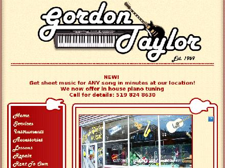 Gordon Taylor Music Ltd (519-824-8630) - Onglet de site Web - http://www.gordontaylormusic.com