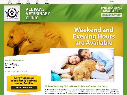 All Paws Veterinary Clinic Inc (867-667-7387) - Onglet de site Web - http://allpawsveterinaryclinic.ca