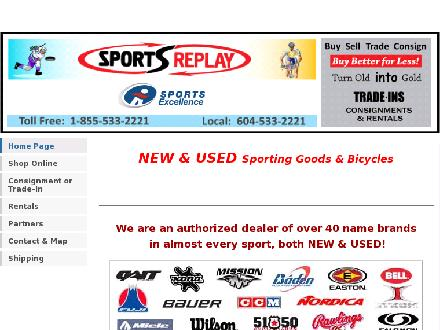 Sports Replay (604-533-2221) - Website thumbnail - http://www.sportsreplay.ca