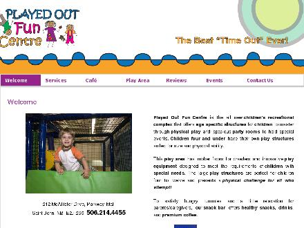 Played Out Fun Centre (506-214-4455) - Website thumbnail - http://www.playedoutfuncentre.ca