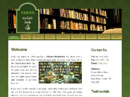 Visions Book Store Ltd (604-520-0047) - Onglet de site Web - http://www.visionsbookstore.com