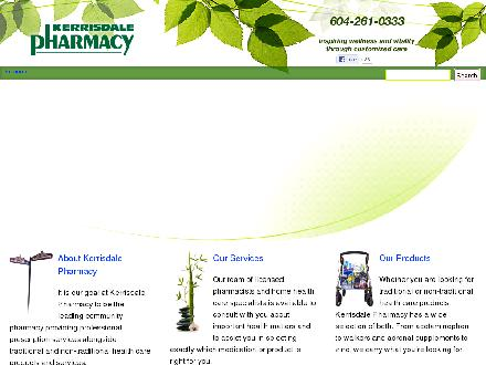 Kerrisdale Pharmacy (604-696-8936) - Onglet de site Web - http://kerrisdalepharmacy.com