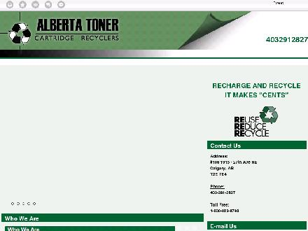 Alberta Toner Cartridge Recyclers (403-291-2827) - Website thumbnail - http://albertatoner.com