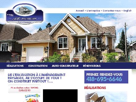 A R Construction (418-695-6646) - Website thumbnail - http://www.ar-construction.ca