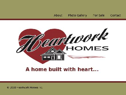 Heartwork Homes (204-355-4677) - Onglet de site Web - http://www.heartworkhomes.com