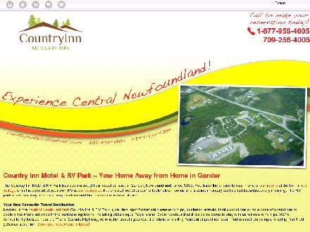 Country Inn Motel & RV Park (709-256-4005) - Website thumbnail - http://countryinngander.ca