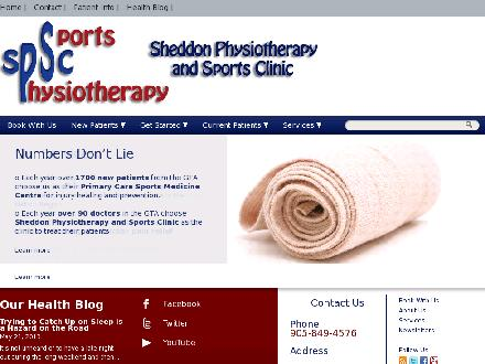 Sheddon Physiotherapy & Sports Clinic (289-813-1759) - Website thumbnail - http://www.sheddonphysio.com
